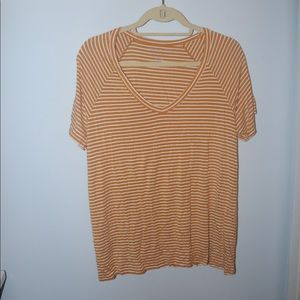 AE XL Soft and Sexy Yellow Striped T-Shirt